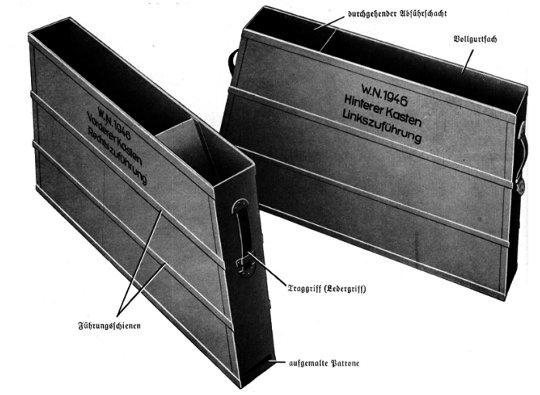 MG 17 kasety amunicyjne